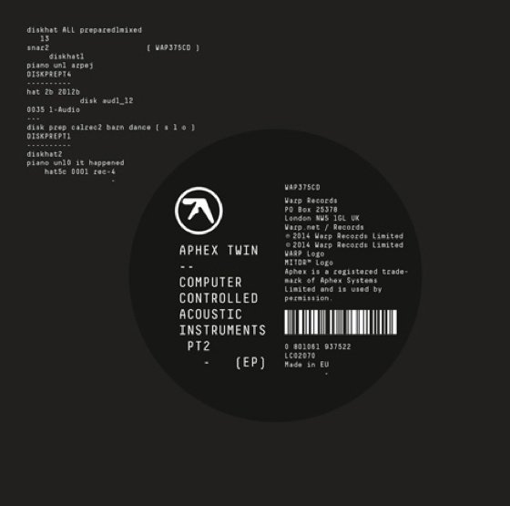 Aphex Twin (2015) Computer Controlled Acoustic Instruments PT2