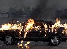 vampire-weekend-saab-900-convertible-torched