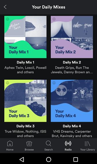 spotify-daily-mixes